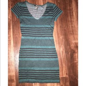 Green/Black Stripe Dress
